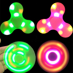 LED Fidget Spinner with Bluetooth Speakers - $14.99 with FREE Shipping!